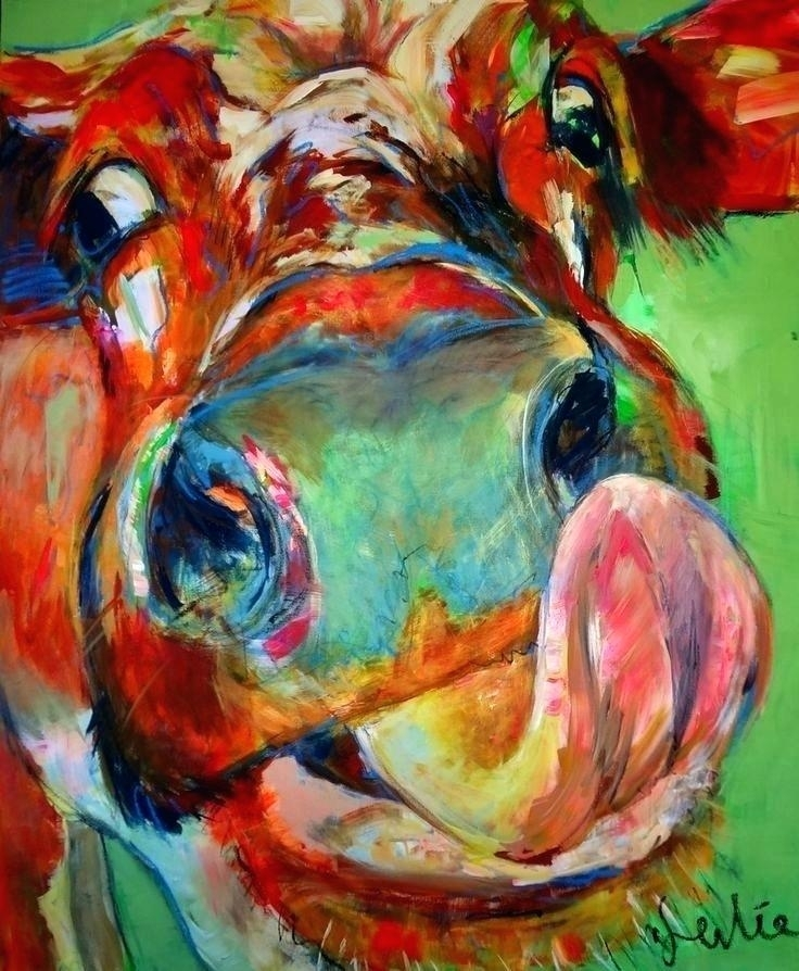 Cow Wall Art Cow Canvas Art Cow Painting On Canvas Best Cow Painting Intended For Cow Canvas Wall Art (View 23 of 25)