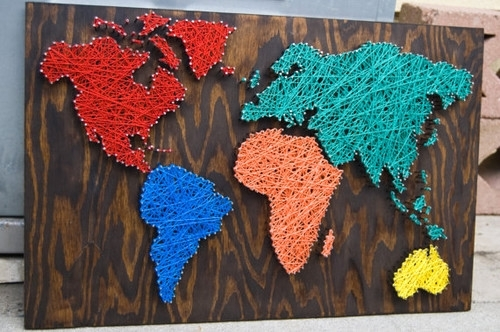 Craftionary Regarding Diy World Map Wall Art (View 8 of 25)