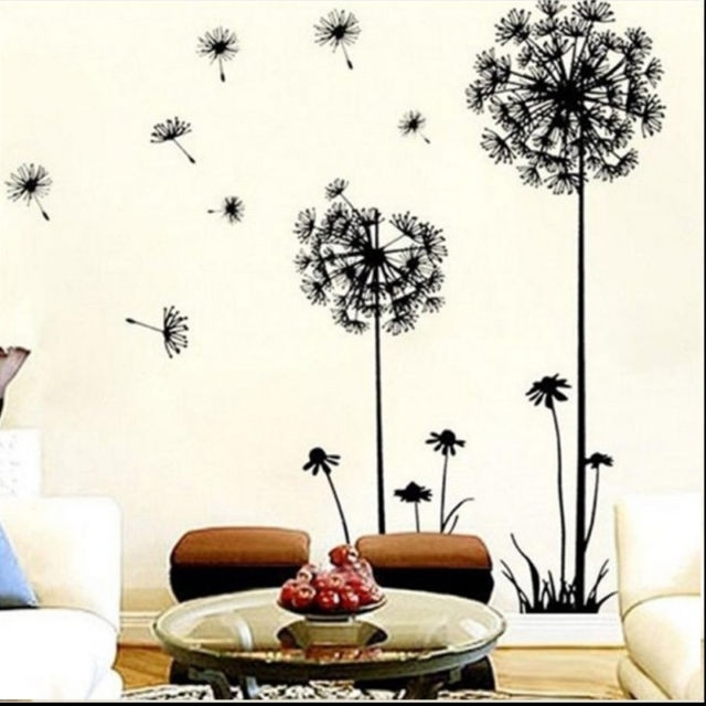 Creative Dandelion Wall Art Decal Sticker Removable Mural Pvc Home Pertaining To Dandelion Wall Art (Image 3 of 25)