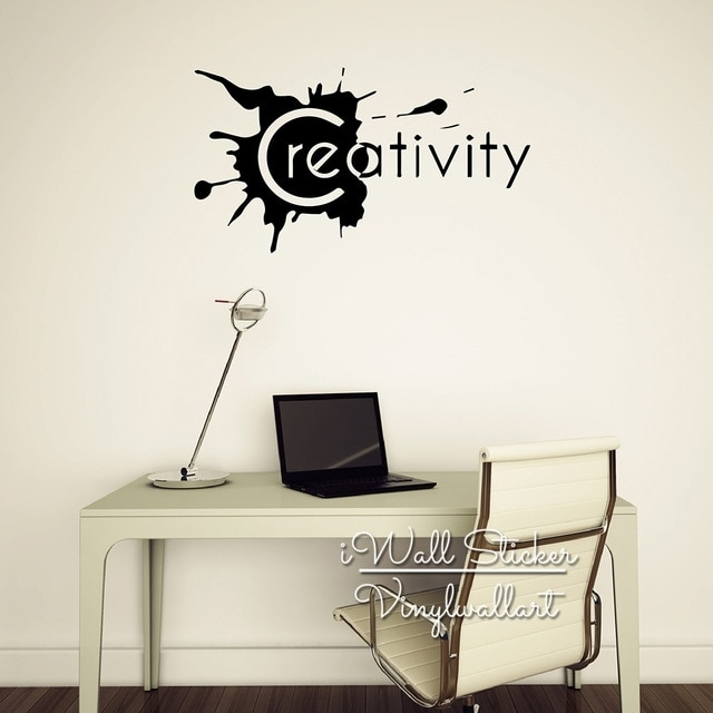 Creativity Quote Wall Sticker Inspirational Quote Wall Decal With Motivational Wall Art (View 2 of 25)