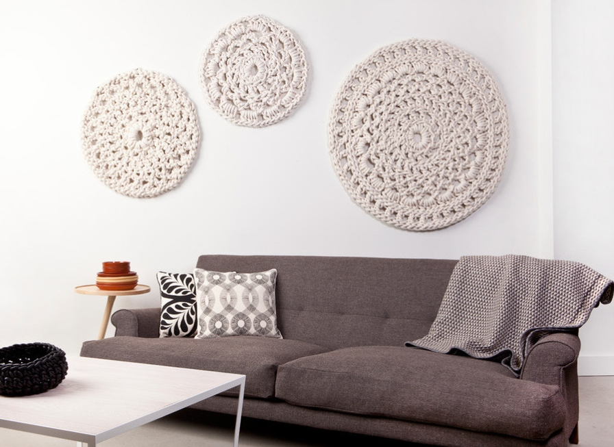 Crochet Motifs As Wall Art–Yes Yes!! When Someone Finds Out What For Crochet Wall Art (View 2 of 20)