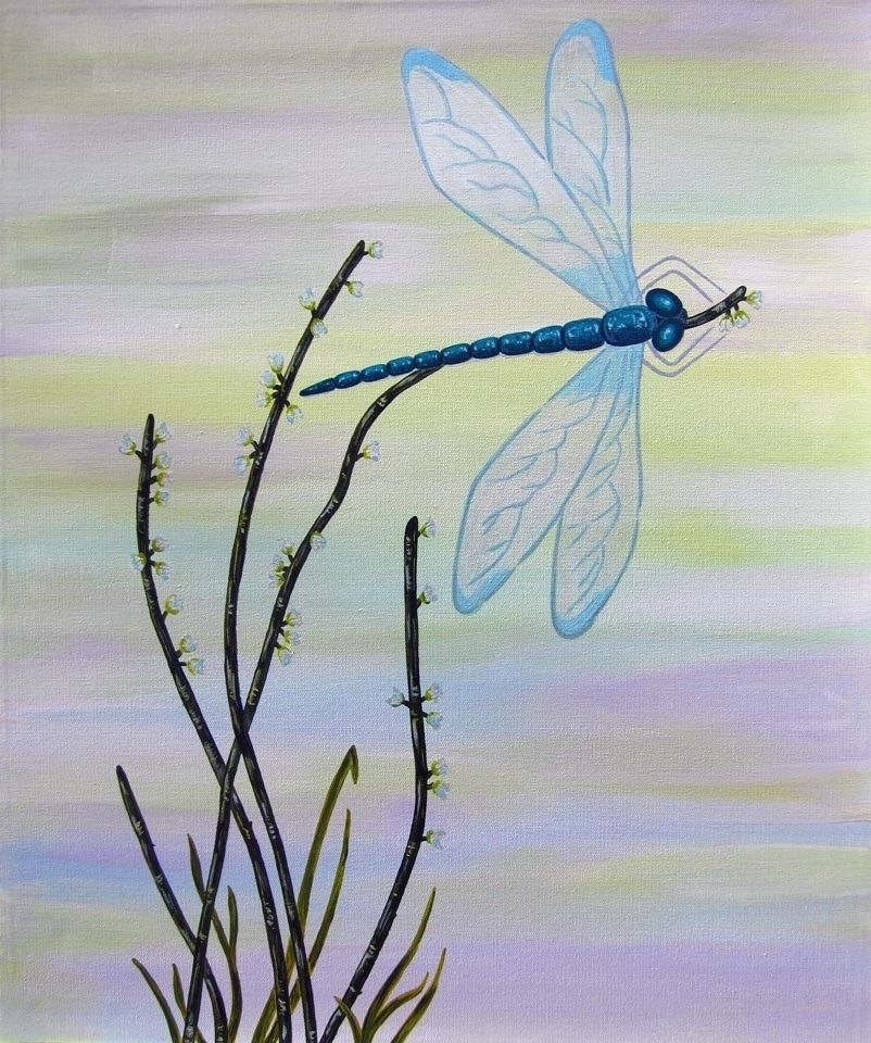 Custom Dragonfly 1/ Child Wall Art Owl Painting (Not A Print) For Dragonfly Painting Wall Art (Image 8 of 25)