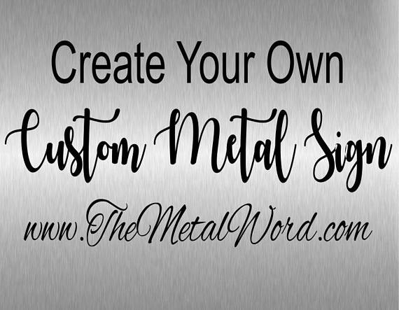Custom Made Metal Signs | Avianfarms Throughout Personalized Metal Wall Art (Image 8 of 20)
