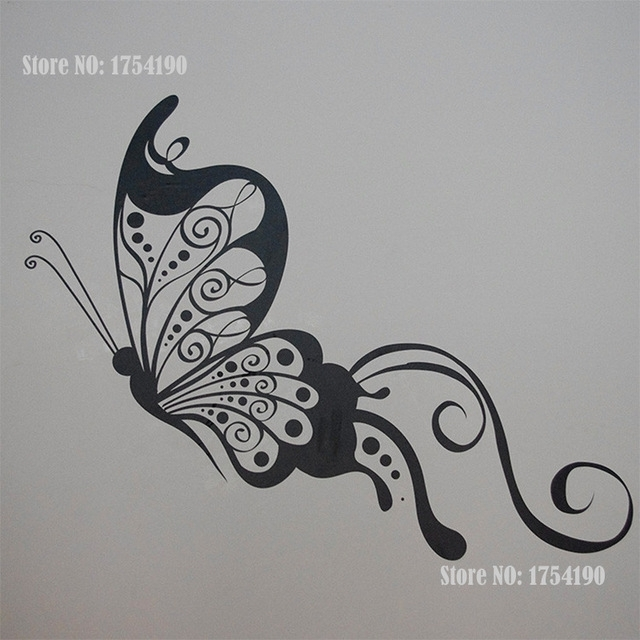Custom Made Name Butterfly Wall Stickers Home Decor Cartoon Regarding Butterfly Wall Art (Image 7 of 10)