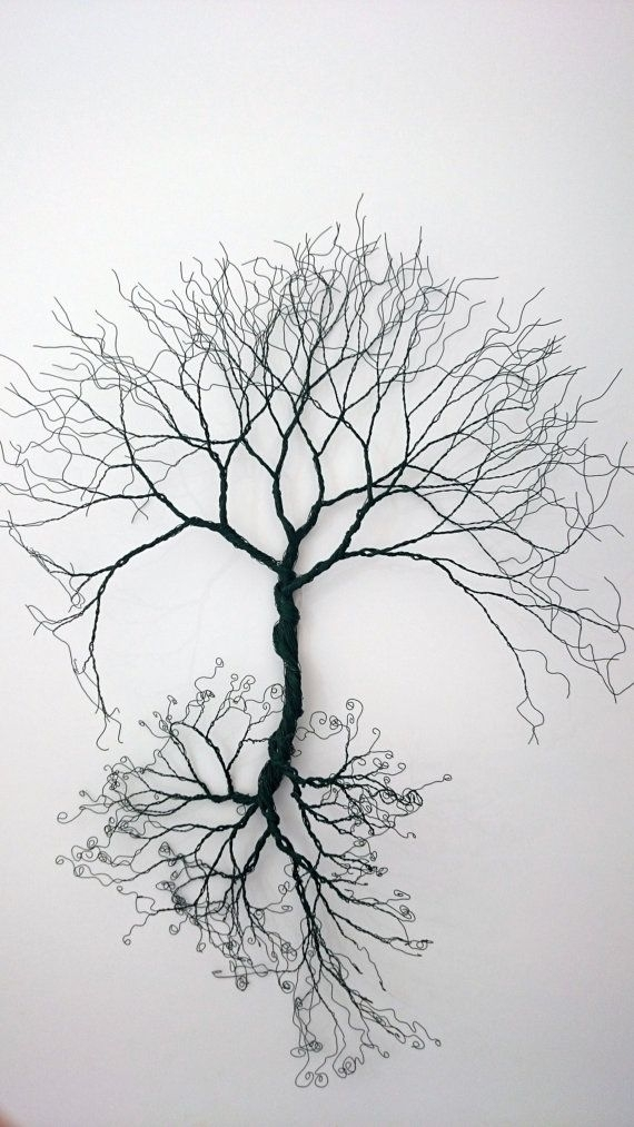 Custom Made-Wire Wall Art Tree Of Life - Wall Decoration-Wire Art within Wire Wall Art