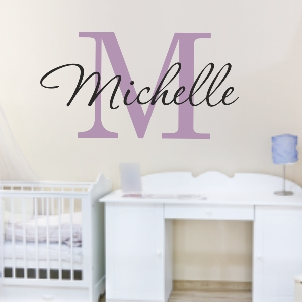 Custom Name Monogram Name Wall Sticker For Kids Or Adults Inside Name Wall Art (View 4 of 25)