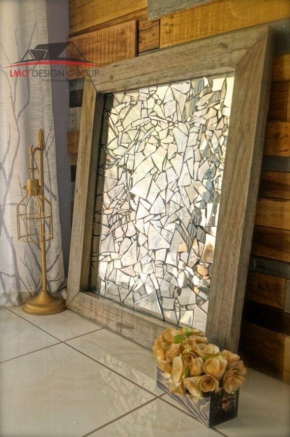 Custom Order On Mirror Mosaic Wall Decorlmodesigngroup On Etsy In Mirror Mosaic Wall Art (Image 7 of 25)
