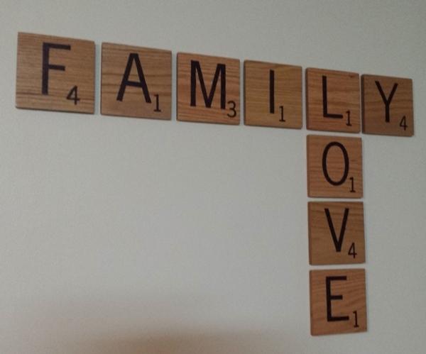 Custom Scrabble Tile Wall Art For Scrabble Wall Art (Image 6 of 25)