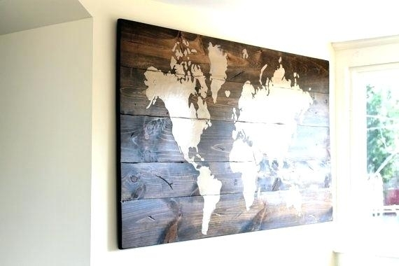 Custom Wall Maps Custom Wall Maps Wall Art Designs Personalized Wood Regarding Personalized Wood Wall Art (View 5 of 25)