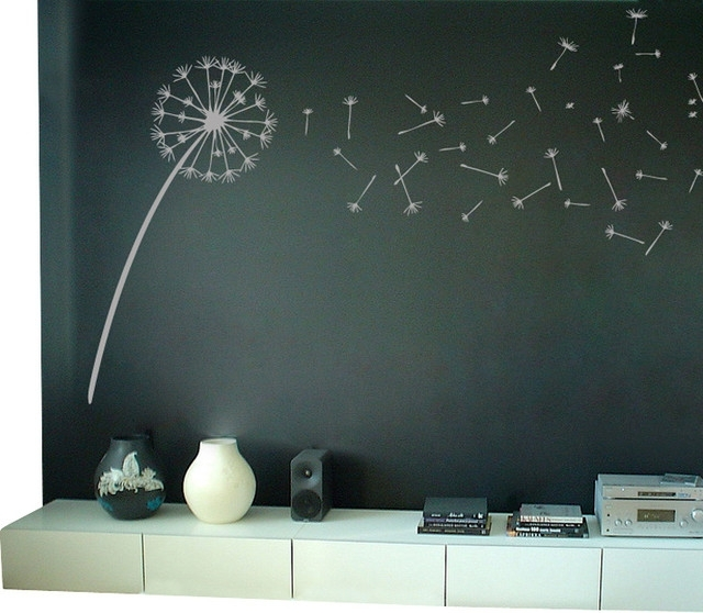 Dandelion Blowing In The Wind Wall Decal – Contemporary – Wall With Regard To Dandelion Wall Art (Image 4 of 25)
