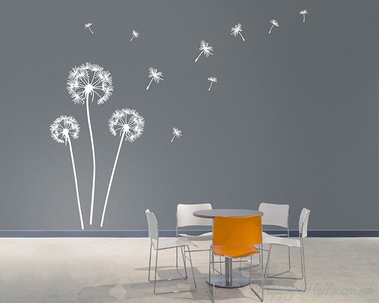 Dandelion Wall Art Decals With Wall Art Decals (Image 2 of 10)