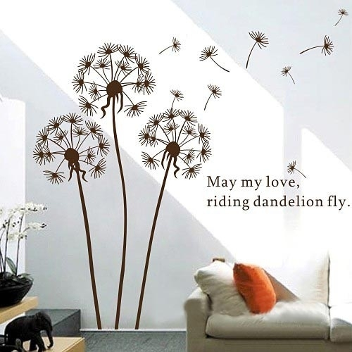 Dandelion Wall Art Sticker With Regard To Dandelion Wall Art (Image 8 of 25)