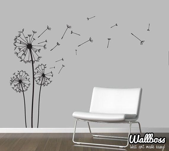 Dandelion Wall Decal – 6 – In Decors Throughout Dandelion Wall Art (Image 9 of 25)
