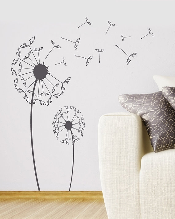 Dandelion Wall Decal Beautiful Dandelion Wall Sticker – Wall In Dandelion Wall Art (Image 10 of 25)
