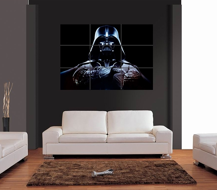Darth Vader Folded Arms Vector Giant Wall Art Print Picture Poster With Darth Vader Wall Art (Image 3 of 25)