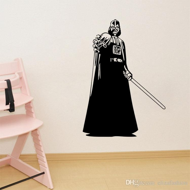 Darth Vader Silhouette Star Wars Wall Art Stickers Decal Diy Home With Regard To Darth Vader Wall Art (View 11 of 25)