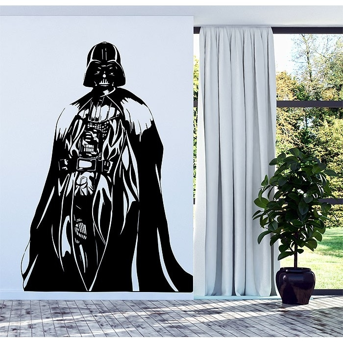 Darth Vader Star Wars Vinyl Wall Decal For Darth Vader Wall Art (View 4 of 25)