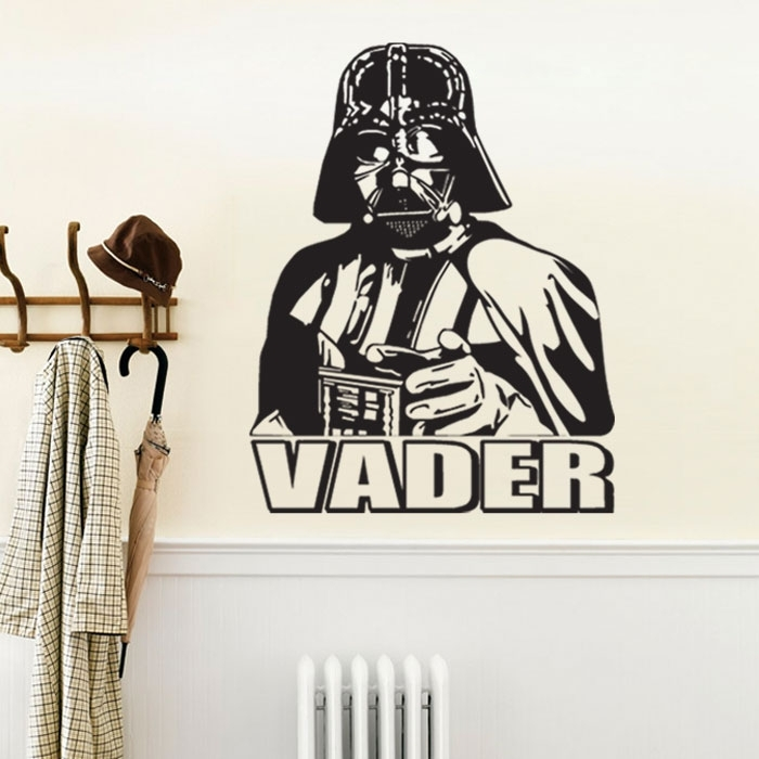 Darth Vader Star Wars Vinyl Wall Decal In Darth Vader Wall Art (Image 7 of 25)