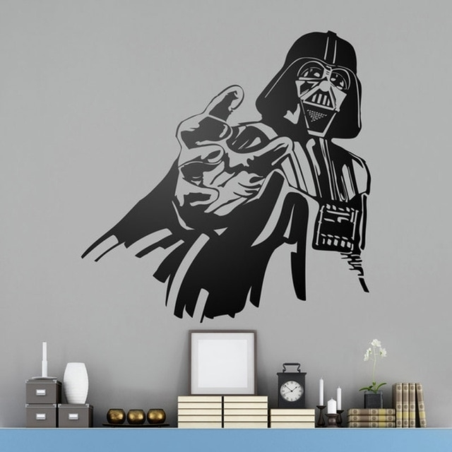 Darth Vader Wall Art Poster Darth Vader Star Wars Wall Decal Funny Regarding Darth Vader Wall Art (Image 8 of 25)