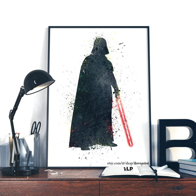 Darth Vader Wall Art Star Wars Led Light Up Wall Art Decor Throughout Darth Vader Wall Art (Image 9 of 25)
