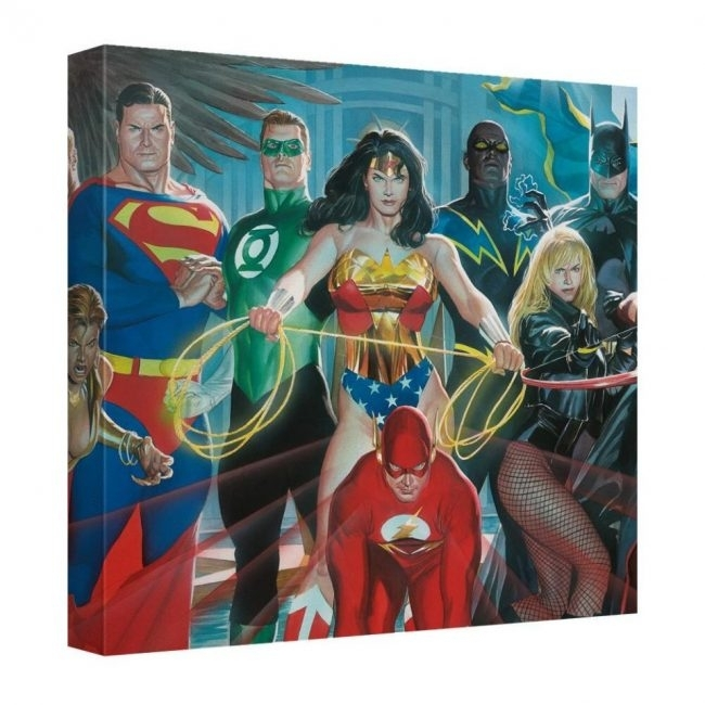 Dc Comics Canvas Wall Artalex Ross – Sci Fi Design Pertaining To Ross Wall Art (Image 3 of 20)