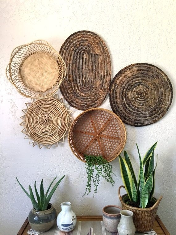 Deco Murale | Mexico | Pinterest | Round Basket, Wall Décor And With Woven Basket Wall Art (View 8 of 25)