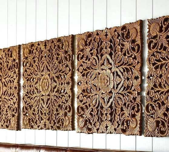 Decor Wood Panel Wall Decor Panel Carved Wood Panel Wall Art Wood Inside Wood Carved Wall Art (Image 14 of 25)