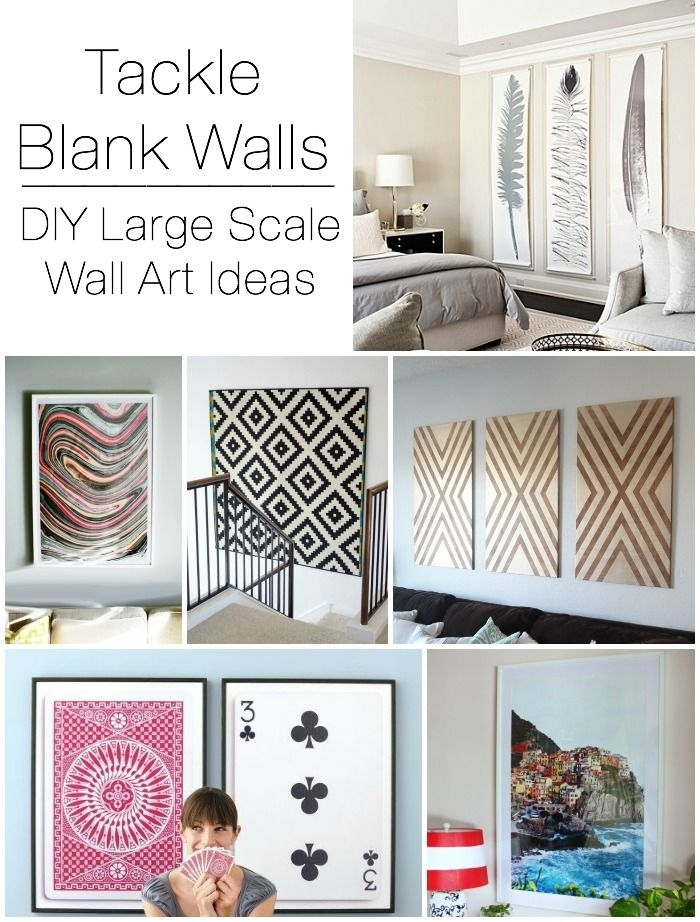 Decorating Large Walls – Large Scale Wall Art Ideas | Diy Ideas Intended For Wall Art Decors (Image 3 of 10)
