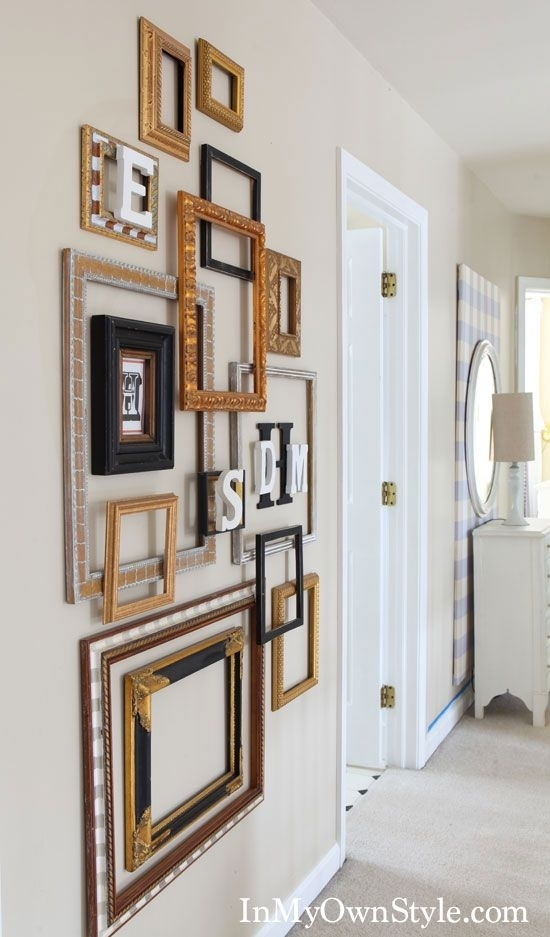 Decorating With Frames | Diy Wall Art | Pinterest | Empty Frames Within Cheap Framed Wall Art (View 6 of 25)