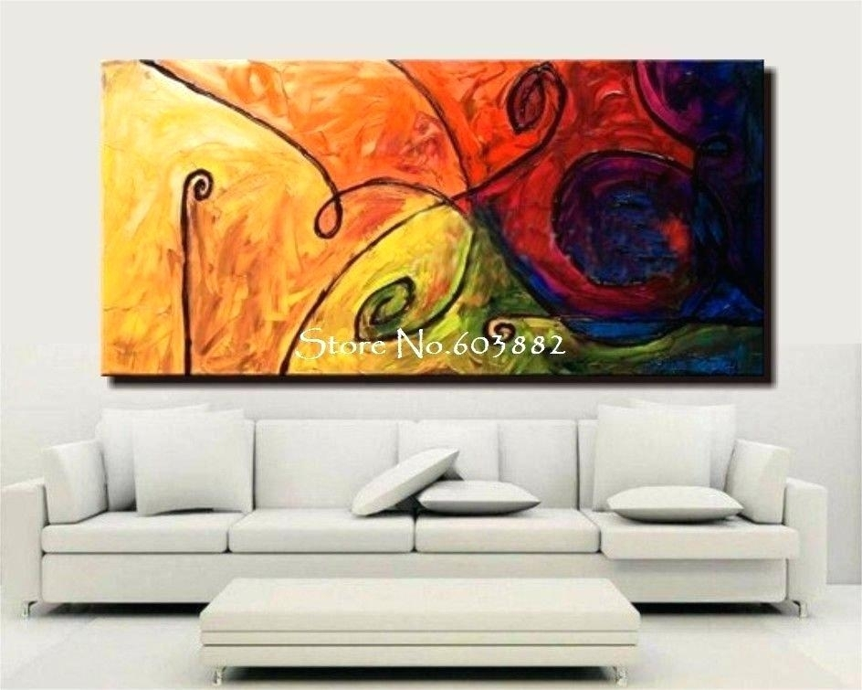 Decoration: Discount Handmade Large Canvas Wall Art Abstract With Regard To Discount Wall Art (Image 10 of 25)