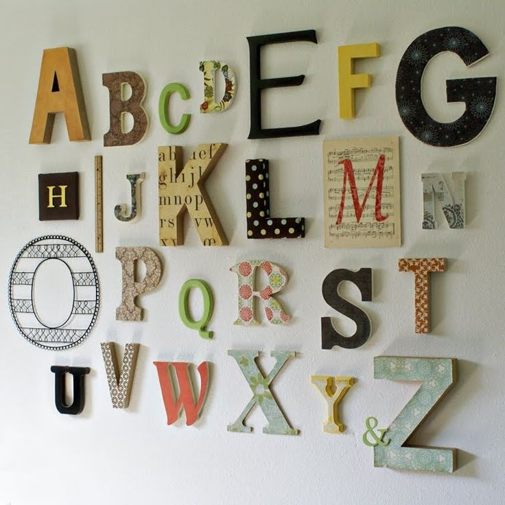 Decoration Le Perfect Wall Art Letters – Wall Decoration Ideas Intended For Letter Wall Art (Image 5 of 25)