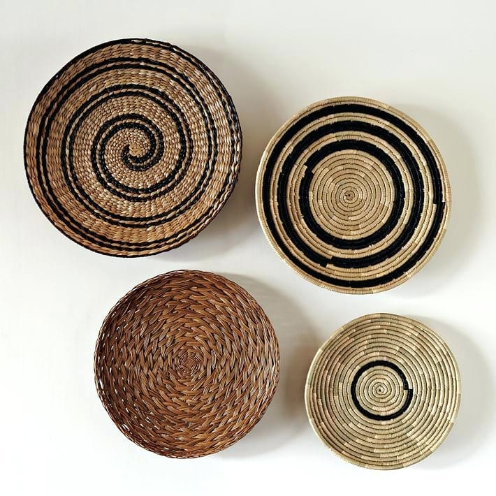 Decorative Baskets To Hang On Wall Decorative Basket Wall Art Set Of With Woven Basket Wall Art (Image 6 of 25)
