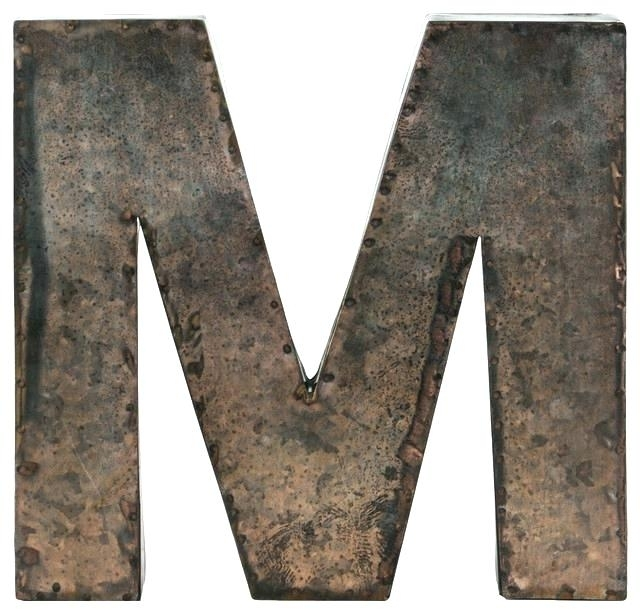 Decorative Metal Letters – Bicyclick Within Metal Letter Wall Art (View 19 of 25)