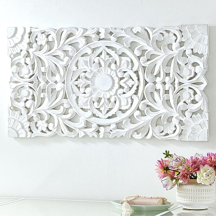 Decorative Wood Panels Wall Art New Floral Carved Panel Wooden With Wood Carved Wall Art (Image 15 of 25)