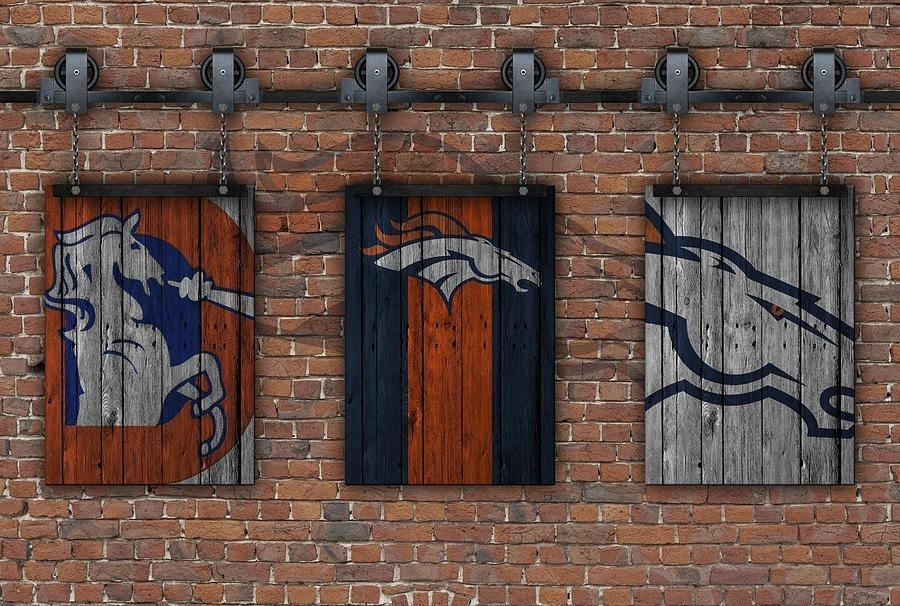 Denver Broncos Brick Wall Photographjoe Hamilton Regarding Broncos Wall Art (Image 10 of 20)