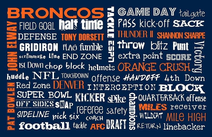 Denver Broncos Digital Artjaime Friedman With Broncos Wall Art (View 19 of 20)