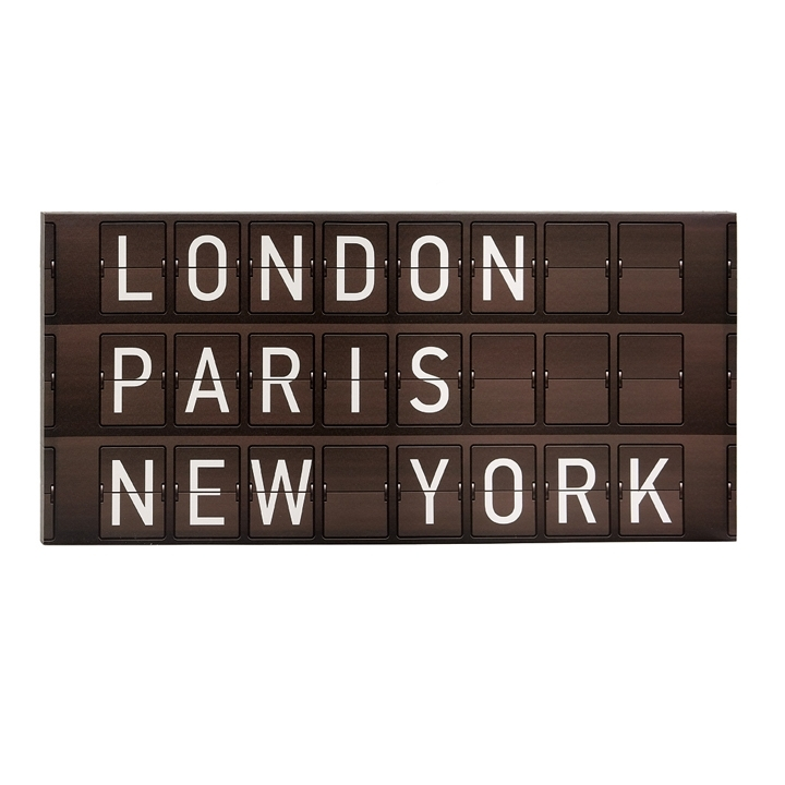 Departure Board London / Paris / New York Wall Art – Horizontal Briers Inside New York Wall Art (Image 5 of 25)