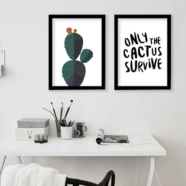 Desert Cactus Wall Art Print Decorative Wall Painting , Cactus Throughout Cactus Wall Art (Image 10 of 20)