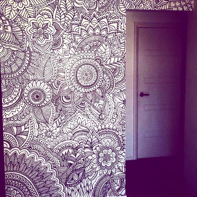 Designsbynn Henna Artist — How Beautiful Is This Henna Wall With Regard To Henna Wall Art (Image 11 of 25)