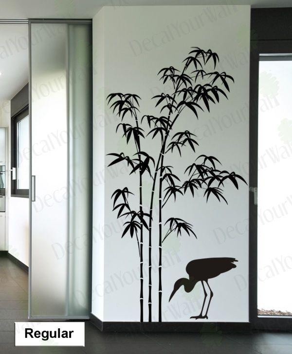 Details About Bamboo Wall Decal Tree Wall Stickers Living Room Regarding Bamboo Wall Art (View 5 of 25)