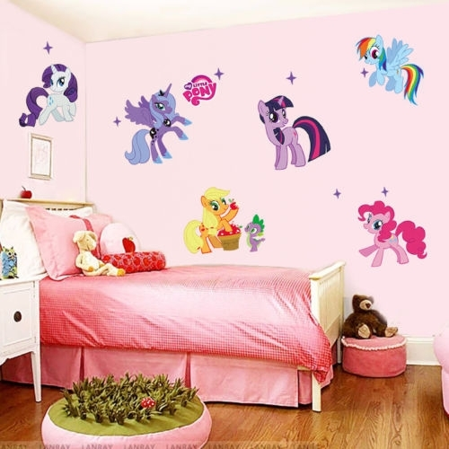 Details About My Little Pony Wall Decals Vinyl Art Sticker Rainbow With Regard To My Little Pony Wall Art (View 19 of 20)