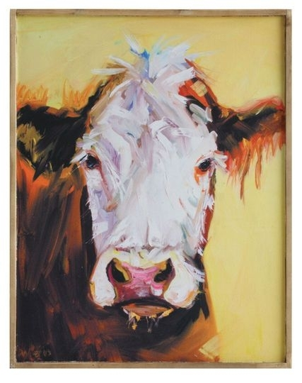 Diane Whitehead Gallery Yellow Cow Canvas Wall Décor | Pinterest With Cow Canvas Wall Art (View 15 of 25)