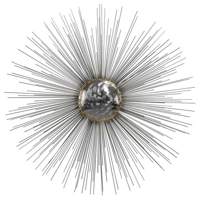 Dimond Home 153 007 Silver Sun Metal Wall Decor – Midcentury – Metal Throughout Silver Metal Wall Art (Image 2 of 25)