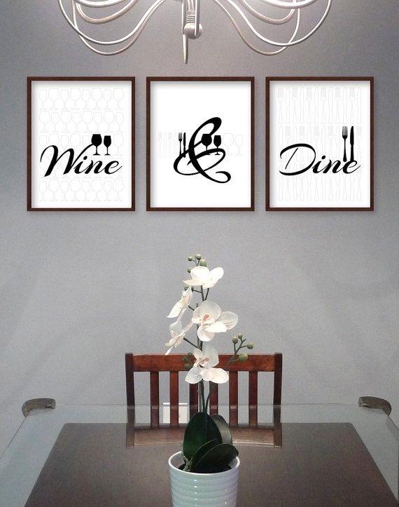 Dining Room Wall Art – Dining Room Art – Kitchen Prints – Kitchen Regarding Wall Art For Kitchen (Image 6 of 20)