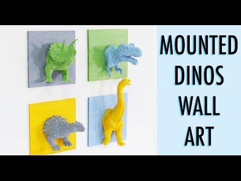 Dinosaur Crafts – How To Make Mounted Dinosaurs Wall Art Feature In Dinosaur Wall Art (Image 5 of 20)