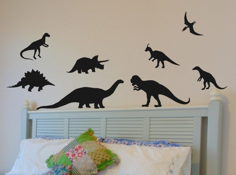 Dinosaur Wall Art Home Decorations Animal Stickers Kids Room Cartoon Throughout Dinosaur Wall Art (Image 8 of 20)