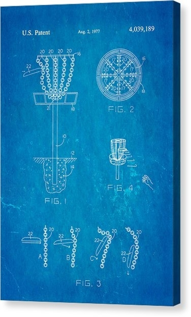 Disc Golf Canvas Prints | Fine Art America Pertaining To Golf Canvas Wall Art (View 18 of 25)