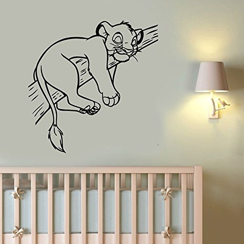 Disneystickers Simba Lion King Wall Sticker Vinyl Decal Disney Art Pertaining To Lion King Wall Art (Image 5 of 25)