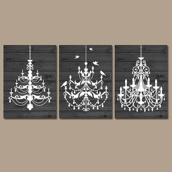Distressed Chandelier Canvas Art Print – Chatta Artprints Within Chandelier Wall Art (Image 8 of 20)