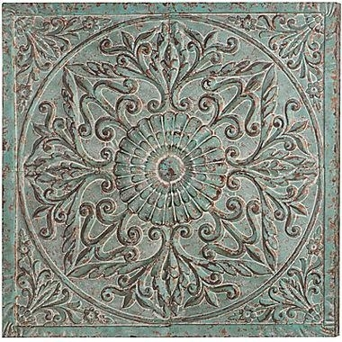 Distressed Medallion Metal Wall Art For Medallion Wall Art (Image 4 of 25)